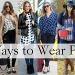 6 Ways To Wear Plaid