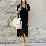 Little Black Fringe Dress