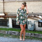 Exaggerated Bell Sleeve Romper