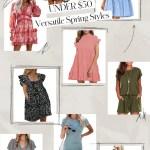 UNDER $50 Versatile Spring Styles