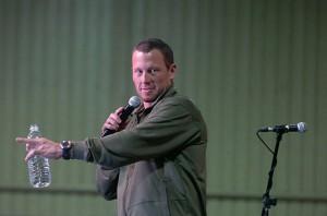 Lance Armstrong à l'eau claire, une image rare