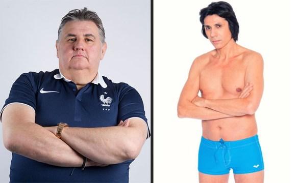 Exemple d'avant et d'arrière au rugby