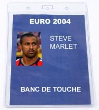 L'accréditation de Steve Marlet pour l'Euro 2004