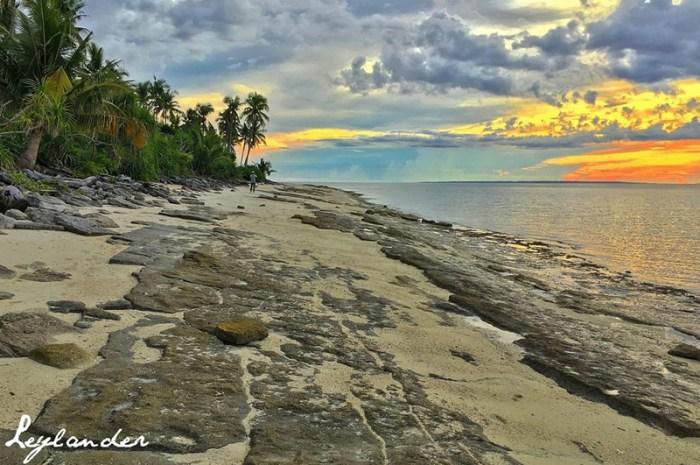 Beautiful Sunset in Leyte's Kalanggaman Island