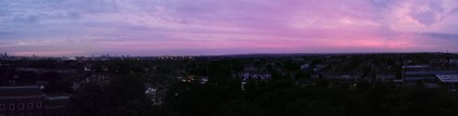 Looking towards Hackney and Haringey and the sunset