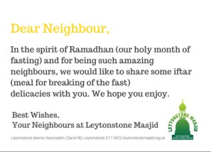 A Message for our lovely neighbours