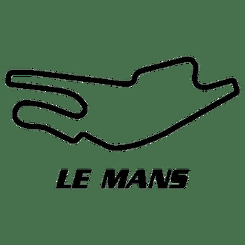 Sticker Circuit Bugatti Le Mans 2