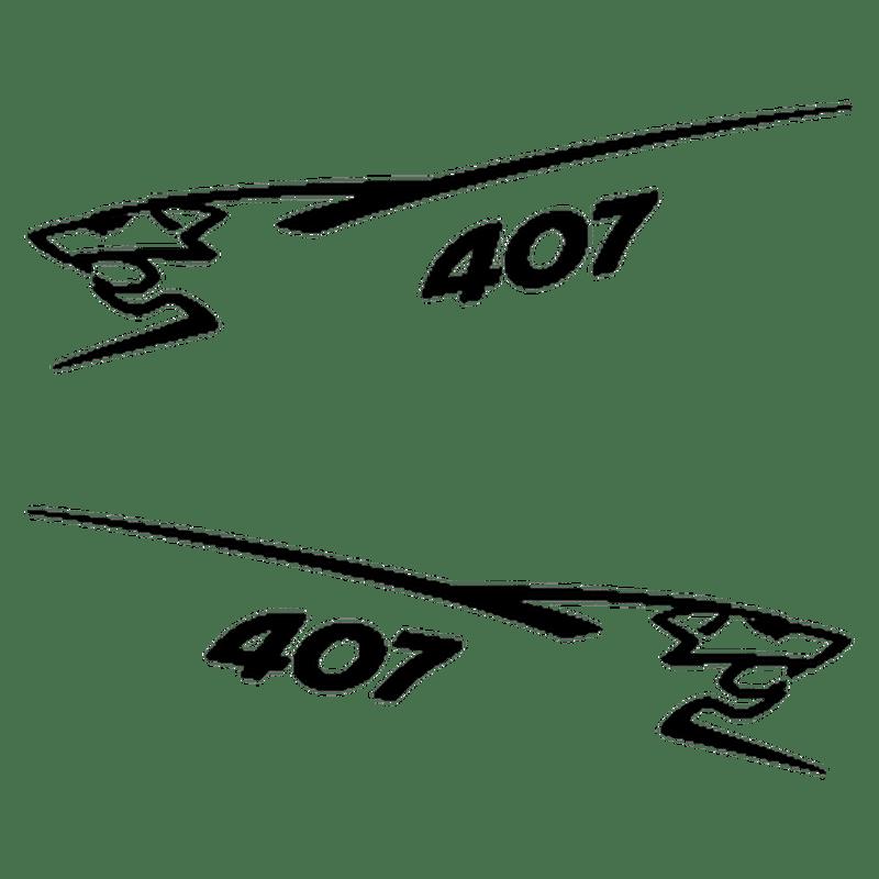 Lot de 2 stickers Peugeot 407 Lion