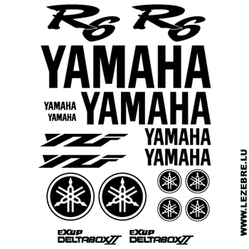 Yamaha YZF R6 Decals Set