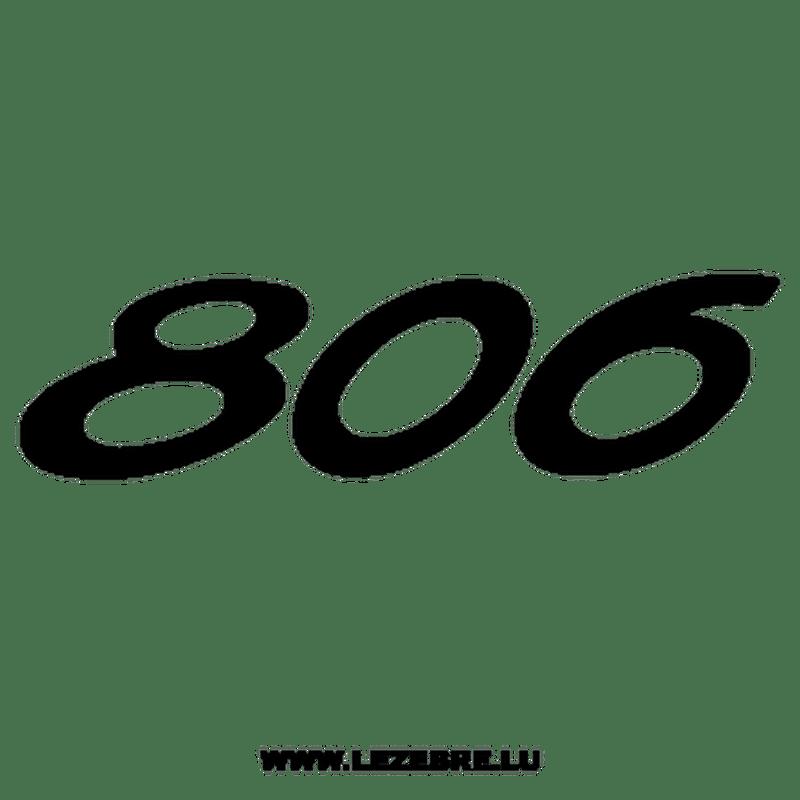 Autocollant Peugeot 806