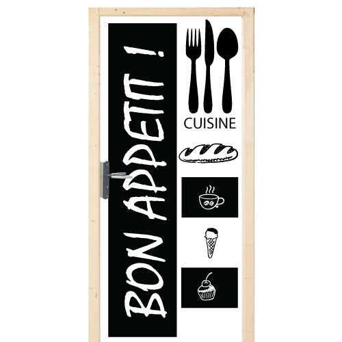 sticker deco porte cuisine bon appetit