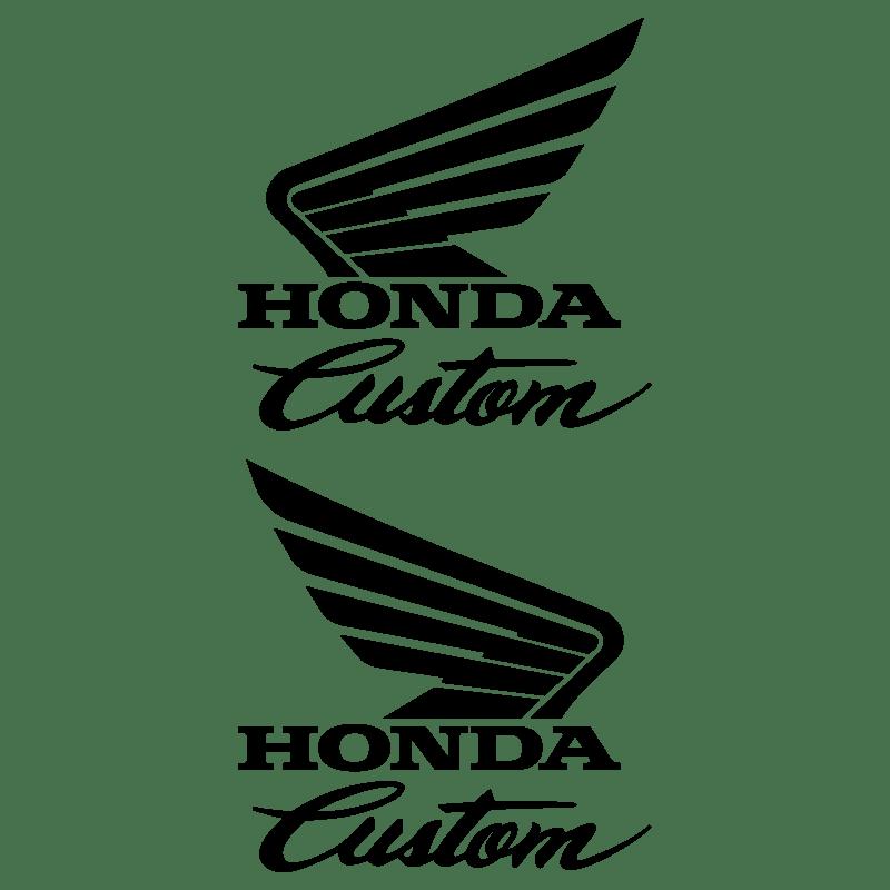 Set of 2 Honda Custom Tank Decals