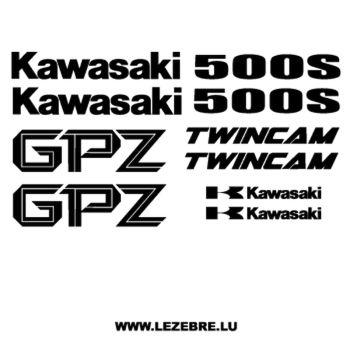 Sticker carbone Kawasaki Courbé
