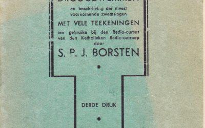 Droogzwemmen: handleiding voor het droogzwemmen en beschrijving der meest voorkomende zwemslagen – S.P.J. Borsten (1933)