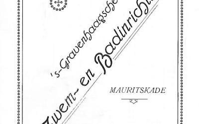 "Diploma – 's-Gravenhaagsche Zwem- en Badinrichting ""Mauritskade"" (1922)"