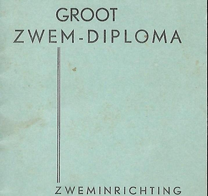 Diploma – Groot Zwem-Diploma Zweminrichting Ter Worm Heerlen (1936)