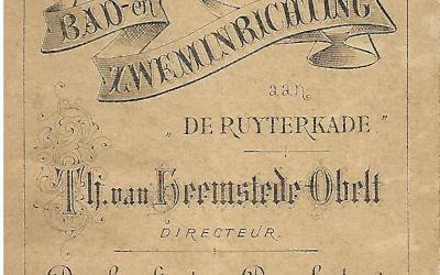 Brochure – Bad- en zweminrichting Th. van Heemstede Obelt (1882)