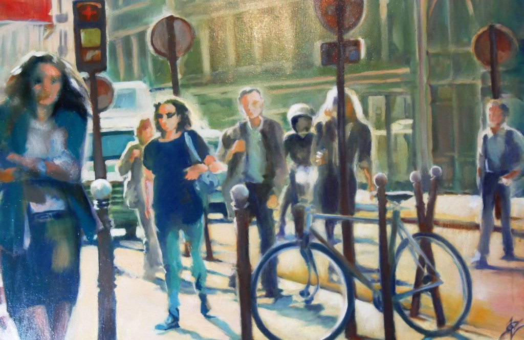 cyclistes-rue-paris-peinture