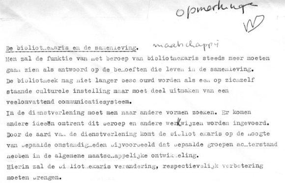 Uit de scriptie van Mieke (1968)