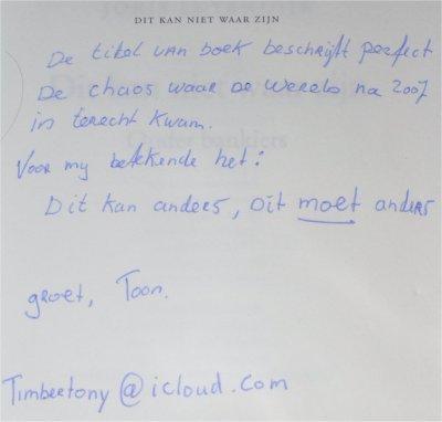 Joris Luyendijk. Dit kan niet waar zijn