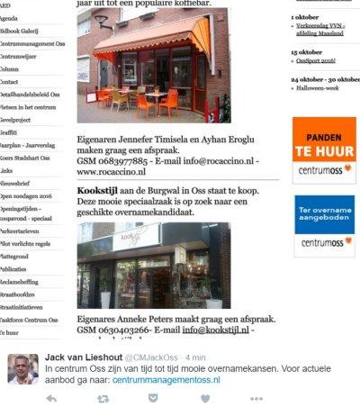 Citymanager Jack van Lieshout blijft terecht zijn best doen voor het Osse centrum