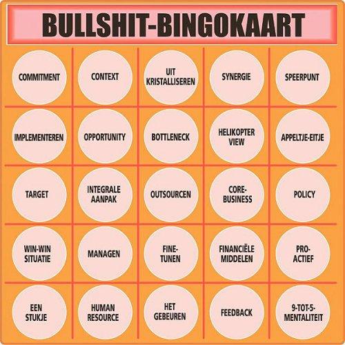 Een andere variant (zoek op: onzin bingo)