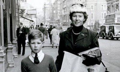 Nick met zijn moeder