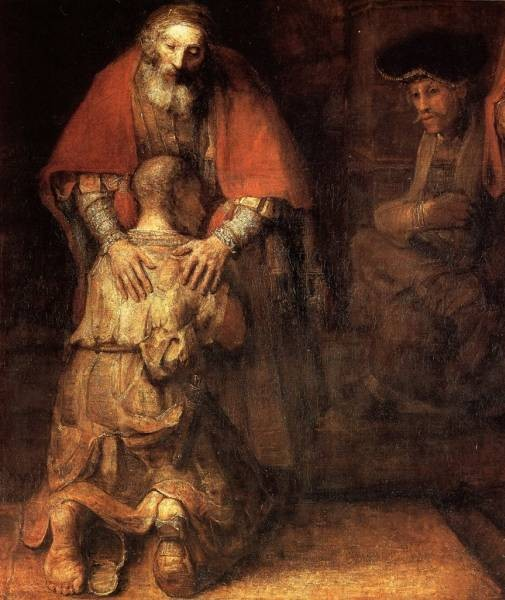 The Return of the Prodigal Son detail WGA by van Rijn Rembrandt