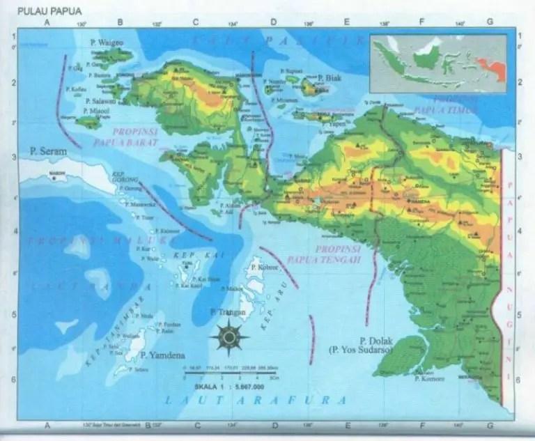 Gambar Peta Papua