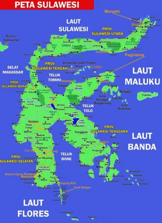 Gambar Peta Sulawesi