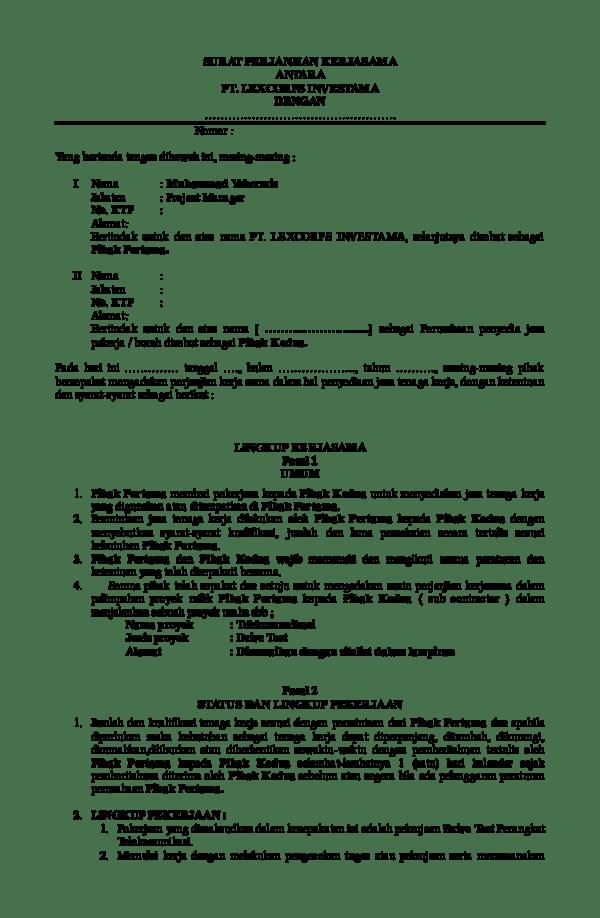 Perbedaan Surat Penawaran Kerja Dengan Kontrak Kerja