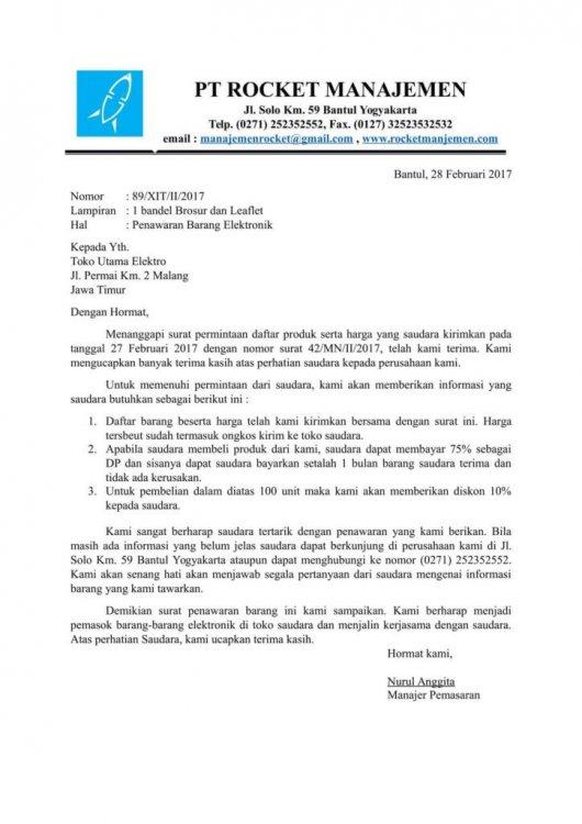 Contoh Kop Surat Untuk Marketing