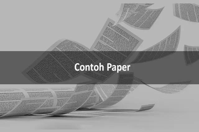 Contoh Paper