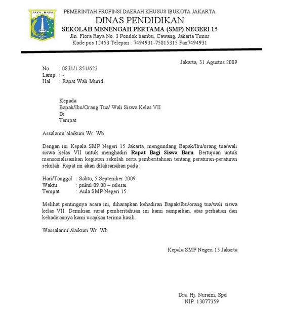 45++ Contoh surat dinas memorandum terbaru terbaik