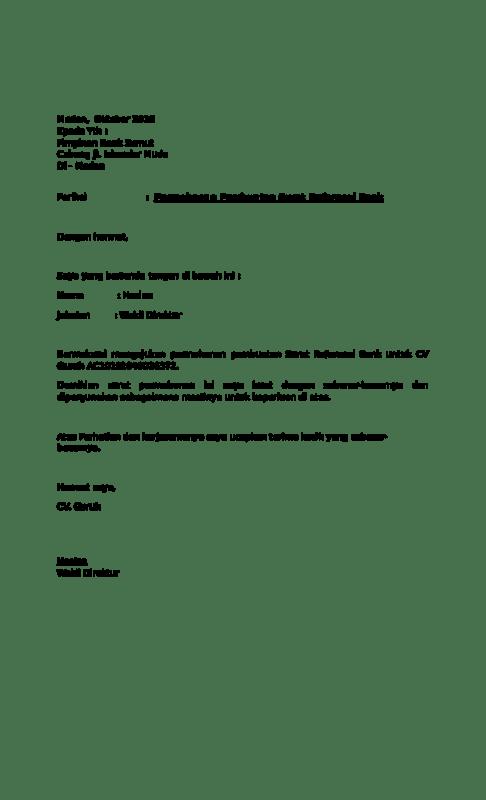 Surat Permohonan Referensi Bank Mandiri : surat, permohonan, referensi, mandiri, Contoh, Surat, Permohonan, Referensi, Untuk, Bisnis, Lezgetreal