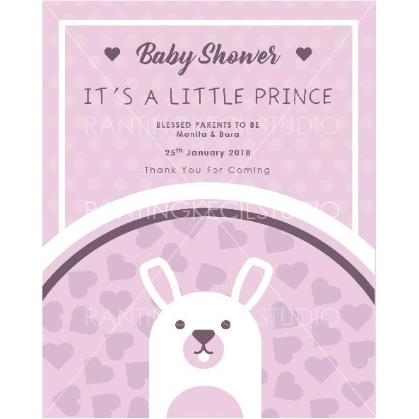 Contoh Surat Undangan Kelahiran Bayi (Baby Shower)
