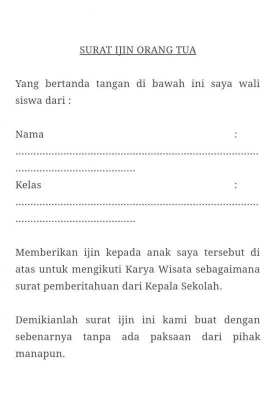 Contoh Surat Izin Orang Tua Untuk Mengikuti Karyawisata E1604372877363