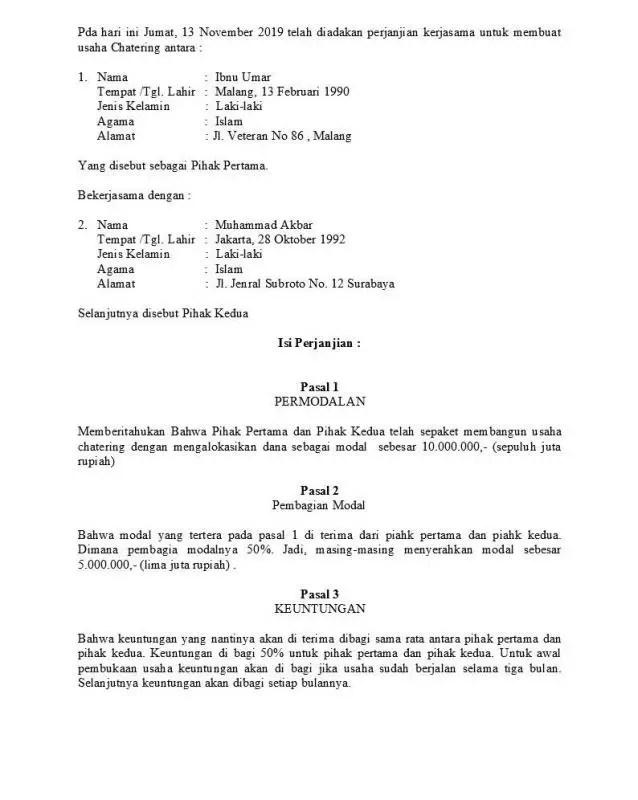 Contoh Surat Perjanjian Kerjasama Sederhana E1604889313695 (1)