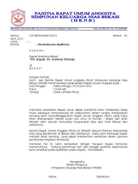 Contoh Surat Permohonan Audiensi Kepada Kepala Desa
