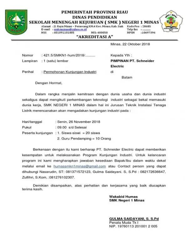 Contoh Surat Permohonan Kunjungan Ke Laboratorium