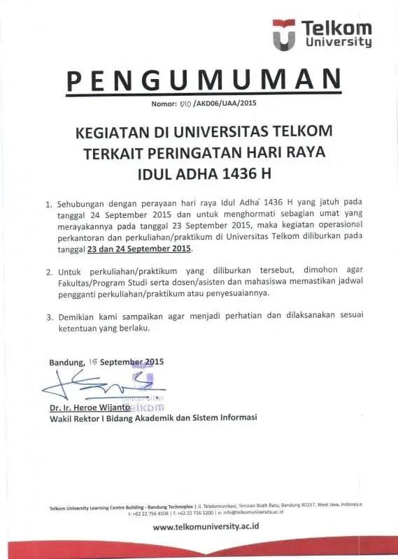 Contoh Surat Resmi Perusahaan Untuk Pemberitahuan Libur3 1