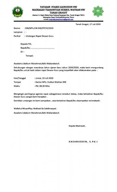 42+ Contoh surat dinas rapat sekolah terbaru terbaru