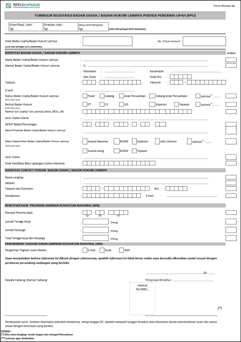 Melakukan Pendaftaran BPJS Kesehatan Atas Perusahaan Secara Online