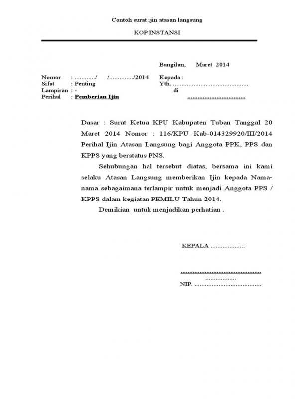 Surat Izin Permohonan Data Kepada KPU 1