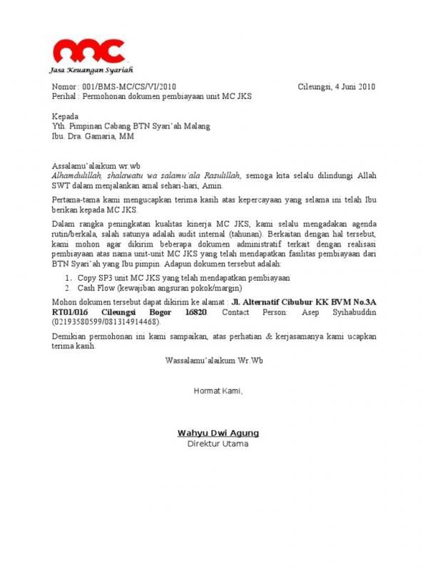Surat Izin Permohonan Data Untuk Audit