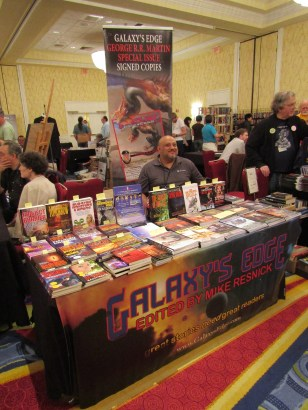 Shahid Mahmud at Phoenix Pick/Galaxy's Edge Table—Readercon (Quincy, Massachusetts)