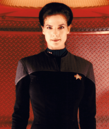 Jadzia Dax - Complicated defines Dax. Dax is the symbiont, Jadzia is the host. Jadzia's dead. Dax lives on. While every host is different, the various hosts have proven to be willing to pick up the relationships of their predecessors, regardless of gender. Jadzia was blasted by an alien-possessed alien.