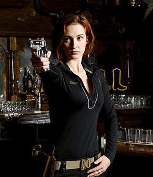 Nicole Haught - That's Officer Haught. She has a clue about the weird shit going on in Purgatory, and falls for Wynonna's baby sister, Waverly. She also got drunk married in Vegas.