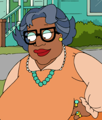 Auntie Momma - Kevin Tubbs, realizing that his niece Donna had no maternal figure in her life, took on the guise of Aunti Momma. She now lives as a promiscuous woman, having slept with Donna's father (her ex brother in law).
