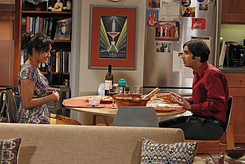 """The Transporter Malfunction"" - Raj and Lakshmi at dinner"